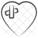 Heart Bandage Cardiac Plasters Heart Injury Icon