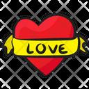 Heart Banner Heart Ribbon Decorative Heart Icon