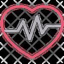 Heart Beat Pulses Icon
