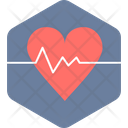 Heart Beat Health Life Icon