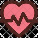Heart Beat Heart Romance Icon