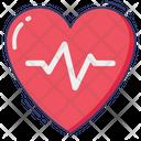 Heart Beat Health Checking Icon