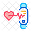 Fitness Bracelet Heart Icon