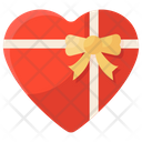 Wrapped Gift Heart Box Gift Pack Icon