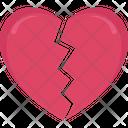 Heart Break Break Day Icon