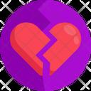 Heart Break Break Up Lover Fight Icon