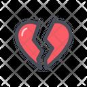 Heart Broken Heartbreaker Heartbroken Icon