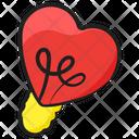 Heart Bulb Light Luminous Light Icon