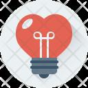 Heart Bulb Lightbulb Icon