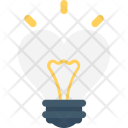 Heart Bulb Lightbulb Icon