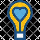 Bulb Lightbulb Romantic Icon