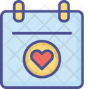 Heart Calendar Calendar Date Icon