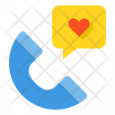Phone Heart Call Icon