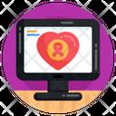 Heart Tumor Heart Cancer Cancer Awareness Icon