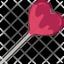 Heart Candy Hear Lollipop Candy Icon