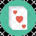Heart Card Poker Icon