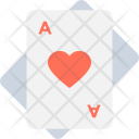 Heart Card Casino Icon