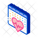 Heart Cardio Calendar Icon