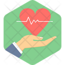 Heart Care Care Hand Icon