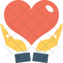 Heart Care Hand Icon