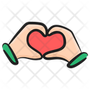 Heart Care Love Care Heart Safety Icon