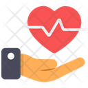 Heart Care Heart Safety Heart Protection Icon