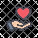 Heart Care Love Care Heart In Hand Icon