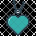 Heart Charm Heart Locket Heart Necklace Icon