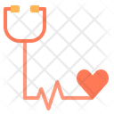 Heart Check Stethoscope Check Heart Beat Icon
