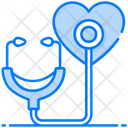 Heart Checkup Stethoscope Phonendoscope Icon