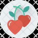 Heart Cherry Icon