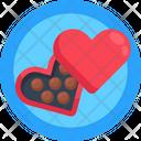 Heart Chocolates Romantic Gift Chocolates Icon