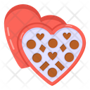 Heart Box Heart Chocolates Valentine Chocolates Icon