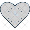 Heart Clock Heart Sign Favorite Sign Icon