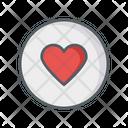 Heart Coin Icon