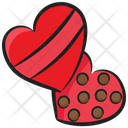 Heart Cookies Chocolate Cookies Biscuits Icon