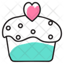 Heart Cupcake Icon