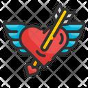 Heart Cupid Romantic Love Icon