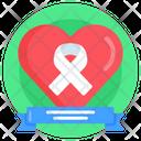 Heart Day Ribbon Heart Day Awareness World Heart Day Icon