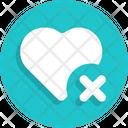 Heart Delete Icon