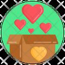 Hearts Box Heart Delivery Hearts Giftbox Icon