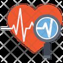 Heart Diagnoses Heart Checkup Ecg Icon