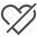 Heart Disabled Unlike Icon