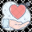 Heart Donation Icon