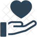Donation Heart Hand Icon