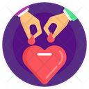 Charity Heart Donation Contribution Icon