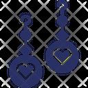 Heart Earrings Ear Earrings Icon