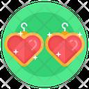Earrings Heart Earrings Jewelry Icon