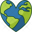Heart Earth Heart Love Earth Icon