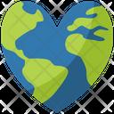 Heart Earth Icon